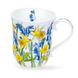 Dunoon Fine Bone China Braemar Cottage Flowers Mug - Yellow.