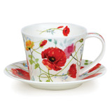 Fine bone china Dunoon Islay Wild Garden Poppy cup and & saucer.