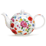Fine bone china Dunoon Wild Garden large teapot.