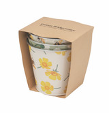 Buttercup Set of 3 Round Tin Herb Pots