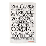 Emma Bridgewater Perfect Cordial 100% cotton tea towel