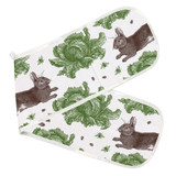 Thornback & Peel 100% cotton Rabbit & Cabbage Double Oven Glove