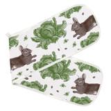 Thornback & Peel 100% cotton Rabbit & Cabbage Double Oven Glove