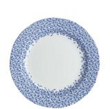 Burleigh Dark Blue Felicity Dinner Plate 10.5 inches. Handmade in England.