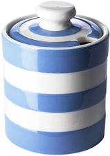 Cornishware Blue Striped Honey/Marmalade Pot