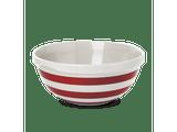 Cornishware Blue Striped Mixing Bowl - red