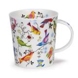 Dunoon Lomond Paradise Birds bone china mug.