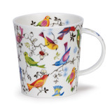 Dunoon Lomond Paradise Birds bone china mug.