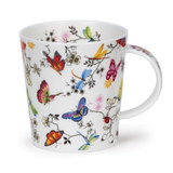 Dunoon Lomond Paradise Butterflies bone china mug.