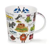 Cairngorm Simply Scotland Fine bone china mug.