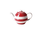 Cornishware Striped Small Betty Teapot - red