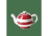 Cornishware Striped Small Betty Teapot - red