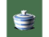 Cornishware Striped Butter Dish - blue