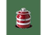 Cornishware Striped Coffee Storage Jar - red