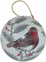 Thornback & Peel Holly & Robin Round Bauble