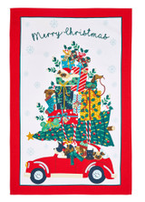 Hound Dog Christmas 100% cotton tea towel from Ulster Weavers.