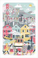 San Francisco 100% Cotton tea towel by Ulster Weavers.