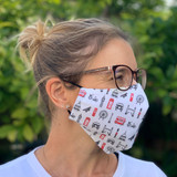 London Icons Fitted Fabric Face Mask from Victoria Eggs.