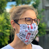 Big Smoke Pleated Fabric Face Mask from Victoria Eggs.