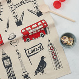 100% cotton Big Smoke London Tea Towel from Victoria Eggs.