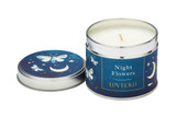 Love Olli Night Flowers scented tin candle. Hand poured in the UK.