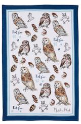 Owls 100% Cotton tea towel by Ulster Weavers.