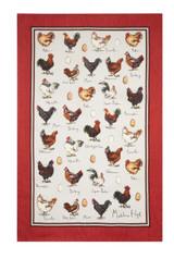 Chicken & Egg Cotton Tea Towel
