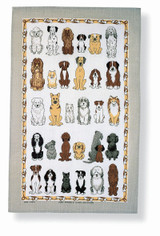 Dogs Arrived 100% Cotton tea towel by Ulster Weavers.