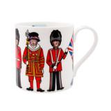 Alison Gardiner Bone China London Figures mug boxed.