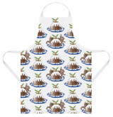 Thornback & Peel Rabbit & Pudding cotton apron.