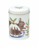 Rabbit & Pudding Round Caddy