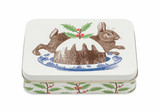 Rabbit & Pudding Small Rectangular Tin