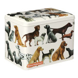 Emma Bridgewater  Dogs large hinged tin caddy.