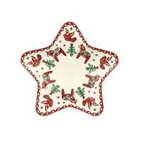 Emma Bridgewater handmade pottery Christmas Joy Small Star Plate.