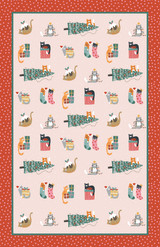 Christmas Cats 100% Cotton Tea Towel