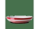 Cornishware Striped Pasta Bowl - red