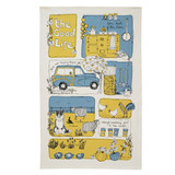 Poppy Treffry The Good Life 100% cotton tea towel.