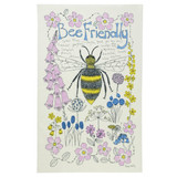 Poppy Treffry Bee Friendly 100% cotton tea towel.