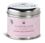English Sweet Pea medium tin candle from Mosney Mill and Marmalade of London.