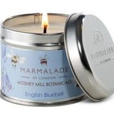 English Bluebell medium tin candle from Mosney Mill and Marmalade of London.