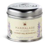 English Lavender medium tin candle from Mosney Mill and Marmalade of London.