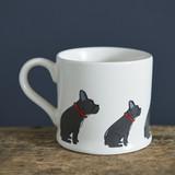 Pottery French Bulldog mug from Sweet William Designs.