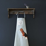 Organic cotton Beagle apron from Sweet William Designs.