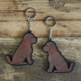PVC Double-Sided Mischievous Mutts Key Ring - Cockapoo
