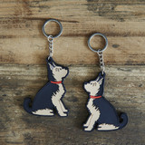 PVC Double-Sided Mischievous Mutts Key Ring - Yorkshire Terrier