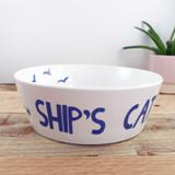 Port & Lemon Ship' Cat Bone China Bowl