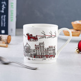 Victoria Eggs Santa's Sleigh bone china mug