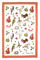 Woodland 100% Cotton Tea towel from Ulster Weavers.