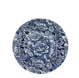 Burleigh Ink Blue Hibiscus Dinner Plate