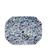 Burleigh Ink Blue Hibiscus Rectangular Platter